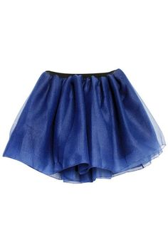 High Waist Blue Skirt. Description Blue Skirt, featuring an elastic, high waist, double-deck design with polyester fabric and outer grenadine, flouncing hem. A-line styling. Fabric Polyester. Washing 40 degree machine wash, low iron. #Romwe