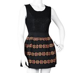 La Reyna Womens Casual Summer Sexy Sleeveless Striped Sundress Dress Small Black >>> For more information, visit image link.