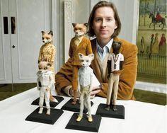 Wes Anderson y el crew de Fantastic Mr. Fox.