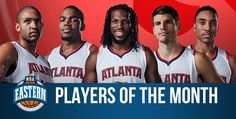 Hawks Starting Five Share Eastern Conference Player of the Month Honors | Atlanta Hawks