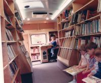 Bookmobile interior, Davidson County (N.C.) Public Library.
