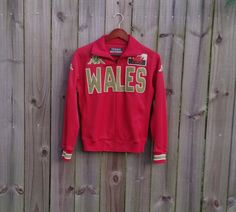 S Small Men's Vintage 90s Kappa Red Green by PinkCheetahVintage