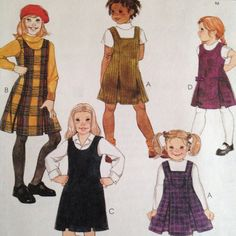 Easy McCalls Girls Jumper Tunic Pattern 2369 Uncut Size 3-14 Pleated 22-32  Bust