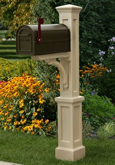 Beautiful Mailbox, Pedestal Mailbox With Sign, Composite, Paintable, Outdoor Mailbox  By MaurerFineWoodWorks On Etsy | Maurer Fine Wood Working | Pinterest |  Etsy, ...