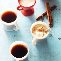 Give your morning coffee a fresh twist with cinnamon and whipped cream. More morning coffee and tea recipes: http://www.bhg.com/recipes/breakfast/breakfast-drinks/?socsrc=bhgpin110212cinnamoncoffee