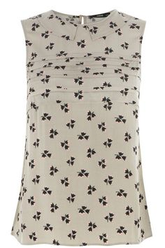 Geo Floral Shell Top