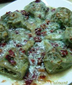 ALCACHOFAS CON JAMÓN GRATINADAS  INGREDIENTES 8 o 9 alcachofas 100 gr . de jamón a taquitos 1 cebolla 2 o 3 ajos aceite de oliva virgen 1 ...