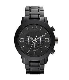 AX Armani Exchange Black Aluminum Watch $220 #Dillards
