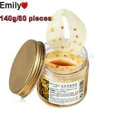 80 PCS Crystal Collagen Gold Osmanthus Eye Mask Eye Cover Gel Face Care ,Moisturizing Eye Pouch To Wrinkles Black Eye Bioaqua #Affiliate