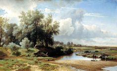 Lev Kamenev - Landscape [1861]  #19th #Classic #LevKamenev #Painting #Scene