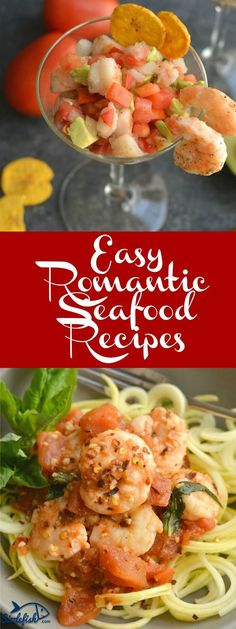 We have compiled 13 of our favorite Easy Romantic Seafood Recipes that are perfect for Valentine's Day. Or, any day of the year! Salmon Dishes, Fish Dishes, Seafood Dishes, Fish And Seafood, Main Dishes, Shrimp Recipes, Veggie Recipes, Easy Recipes, Healthiest Seafood