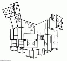 Minecraft Sword On Head Coloring Page H Amp M Coloring