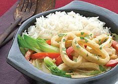 Thai Coconut and Calamari Curry