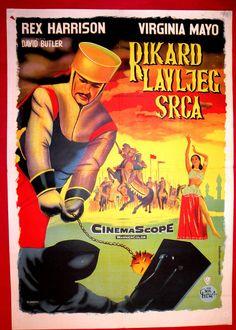KING RICHARD CRUSADERS 1954 LIONHEART D.BUTLER VIRGINIA MAYO EXYU MOVIE POSTER