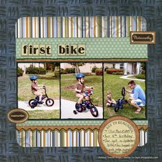 ideas for a first bike ride scrapbook page - Google Search