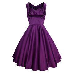 Lady Mayra ELSA Purple Christmas Dress Satin by LadyMayraClothing