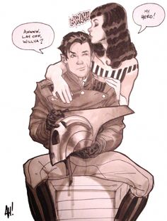 The Rocketeer by Adam Hughes