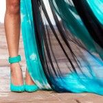 beautiful turquoise shoes