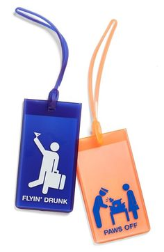 FLIGHT 001 Rubber Luggage Tags (Set of 2) available at #Nordstrom