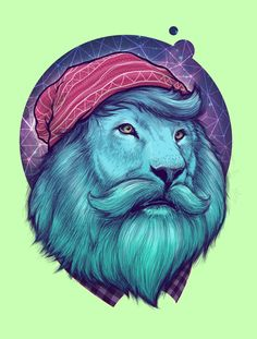 Hipster Lion Tattoo Design - Popular hipster tattoo - lion with a beard wearing a hat. Art And Illustration, Illustrations Posters, Hipster Vintage, Hipster Art, Hipster Tattoo, Hipster Design, Images Graffiti, Lion Tattoo Design, Love Art