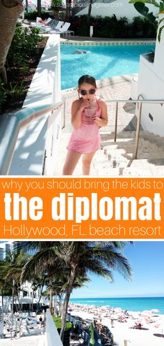 Find out why the Diplomat Beach Resort in Hollywood Florida is one of our family's favorite resorts - with amazing food, a pristine beach and lush accommodations #familytravel #resort #florida #atthedip