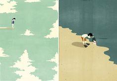 Monoshout, le illustrazioni di Alessandro Gottardo nel volume edito da 27_9 #bamarang #book