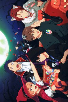 Free iwatobi swim club. Halloween official art
