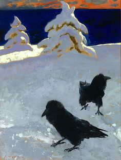 Jamie Wyeth (American, Contemporary Realism, b. Study for Ice Storm, Maine, 1998 - Grognards Crow Art, Raven Art, Bird Art, Jamie Wyeth, Andrew Wyeth, Nc Wyeth, Ice Storm, Winter Landscape, Klimt