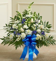 Funeral Flowers by 1800Flowers.com - Heartfelt Tribute Floor Basket Arrangement - Medium