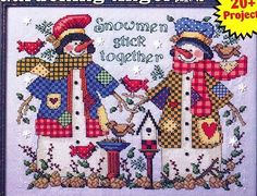 Cross-stitch Snowmen Stick Together, part 1... color chart on part 3 Gallery.ru / Фото #12 - 7 - uni4ka