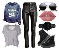 """""""Monnie's jacket ❤"""" by analiviatoniazzo2 ❤ liked on Polyvore featuring Acne Studios, H&M, CLUSE and Lime Crime"""