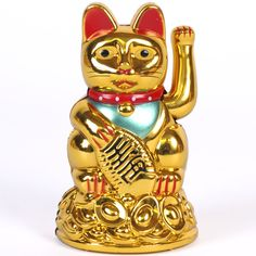 Chang Lucky Chinese Money Cat with Waving Paw Good Fortune Spell