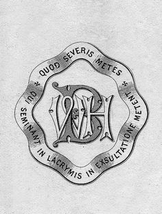 0255ad1be Bookplate of WBH Description: Features the monogram 'WBH' surrounded by a  border with