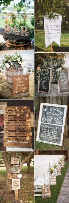 how to save your wedding budget on wedding sign decoration with easy DIY projects