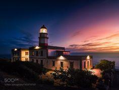 Faro de Cabo Silleiro by tubi88  sea sunset coast lighthouse ocean mar españa spain galicia olympus costa faro baiona Cabo Silleiro t