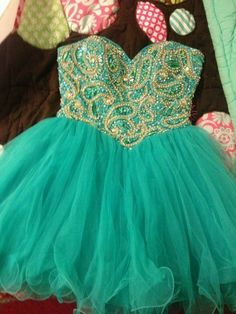 Sweetheart Green Ball Gown Short/ Mini Prom Dress/Homecoming Dress/ Formal Dress/ Graduation Dress/ custom made dress 2013 on Etsy, $192.50