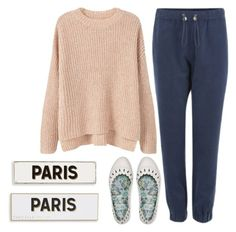 """let's go to paris and like never come back"" by sweet-jolly-looks ❤ liked on Polyvore featuring French Connection, MANGO, FitFlop, Rosanna, casual and simple"