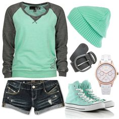 """super comfy casual"" by deedee22371 on Polyvore>>>>>>>love this outfit with the converse"
