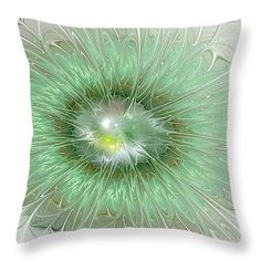 "Mint Green Throw Pillow 14"" x 14"""