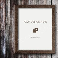 Your dark wooden Frame Mockup....
