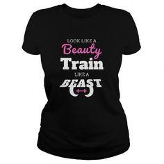 Women Fitness Look Like a Beauty Train Like a Beast T Shirts, Hoodies. Get it here ==► https://www.sunfrog.com/Fitness/Women-Fitness--Look-Like-a-Beauty-Train-Like-a-Beast-Black-Ladies.html?41382 $21.95