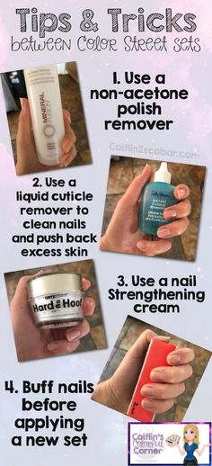 Nail Care Tips, Nail Tips, Nail Care Products, Nail Color Combos, Nail Colors, Cuticle Remover, Clean Nails, Striped Nails, Color Street Nails