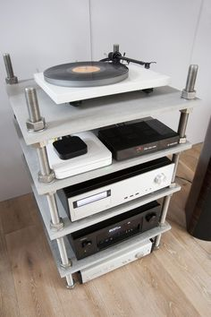 Hifi Stand, Audio Stand, Speaker Stands, Furniture Makeover, Wood Furniture, Audiophile, Audio Rack, Stereo Cabinet, Home Entertainment Furniture