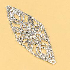 1 Stk Strass Silber Kristall Hochzeit verzieren Handwerk Nähen Applikationen NEU
