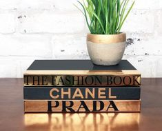 Fashion Designer Book Labels - (Set of 3 Chrome) – Giant Shoe Boxes Giant Shoe Box, Book With Blank Pages, Make Your Own Coffee, Chanel Decor, Book Labels, Coffee Table Books, Decorating Coffee Tables, Fashion Books, Home Staging
