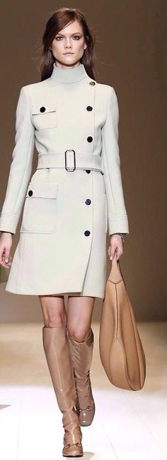 Gucci ~ Belted Topcoat, White                                                                                                                                                      More
