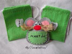 Ratoncitos guardadientes, con bolsita para guardarlos. Se hacen por encargo. www.mislanitas.com