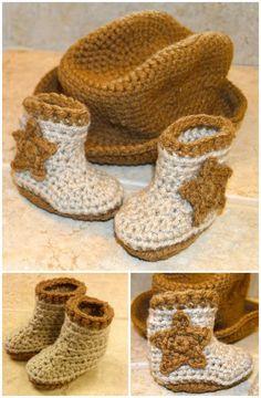 Free Crochet Cro-Shayley Newborn Cowboy Hat And Boots Pattern - 7 Free Crochet  Cowboy 77721fa64361
