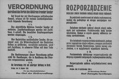 Rozporządzenie o zakazie słuchania zagranicznych stacji radiowych i rozpowszechniania pochodzących stamtąd informacji - pod karą więzienia lub śmierci. Kraków, 10 pażdziernika 1939 r.