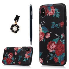 iPhone X Case, YOKIRIN Printed Floral Shock-absorption Soft TPU Rubber Skin Gel Bumper Transparent Crystal Colorful Butterfly Anti-Scratch Fingerprint Ultra Thin Slim Protective Cover for iPhone X